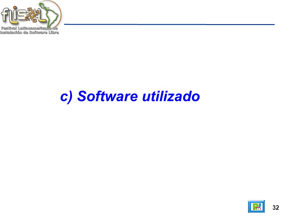 32 c) Software utilizado