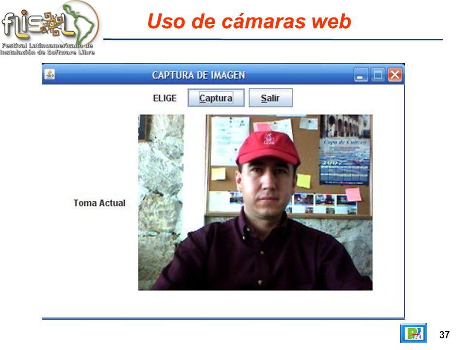 37 Uso de cámaras web