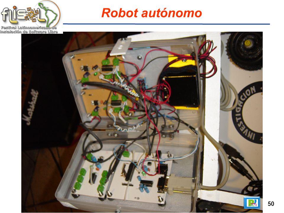 50 Robot autónomo