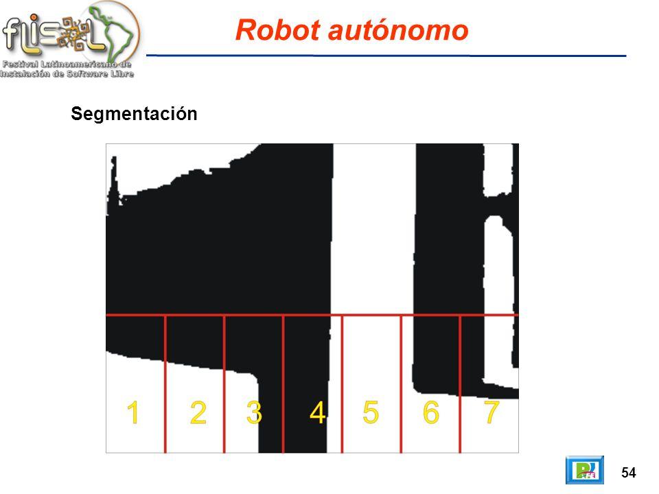54 Robot autónomo Segmentación