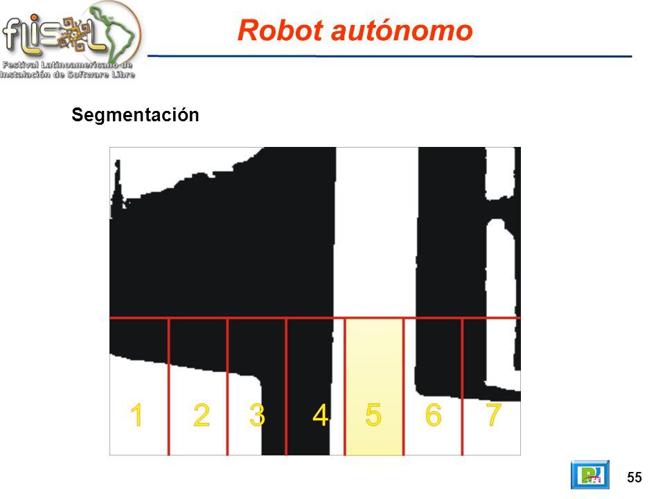 55 Robot autónomo Segmentación