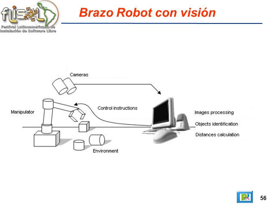 56 Brazo Robot con visión
