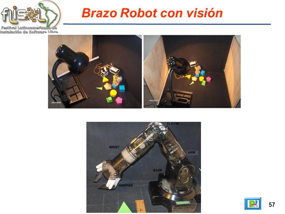 57 Brazo Robot con visión