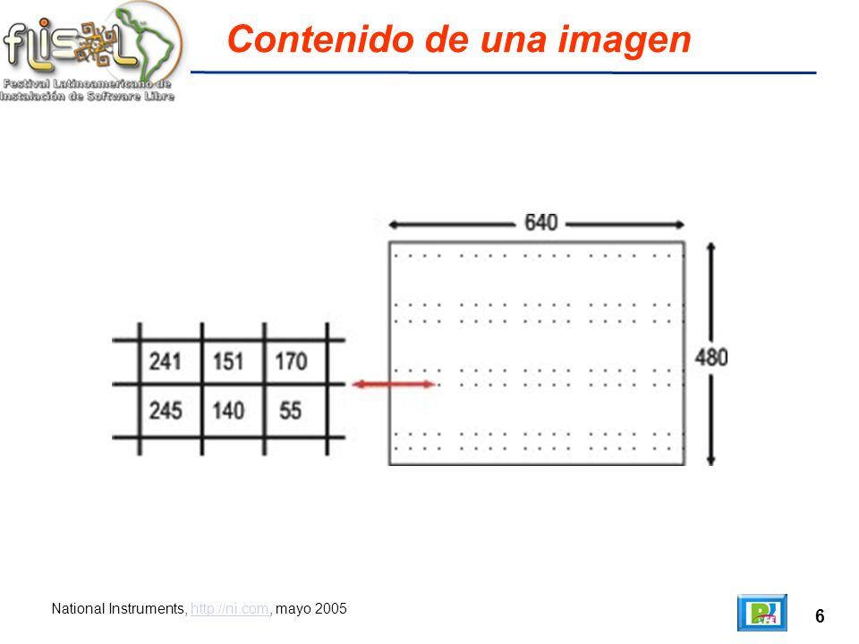 6 Contenido de una imagen National Instruments, http://ni.com, mayo 2005http://ni.com