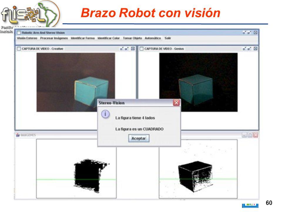 60 Brazo Robot con visión