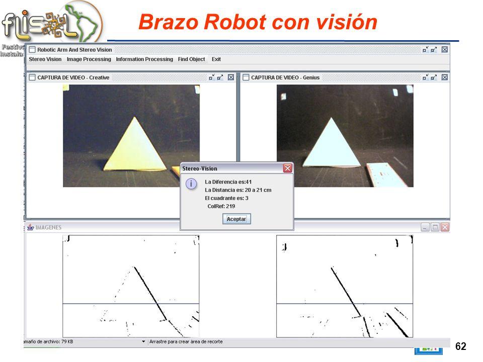 62 Brazo Robot con visión