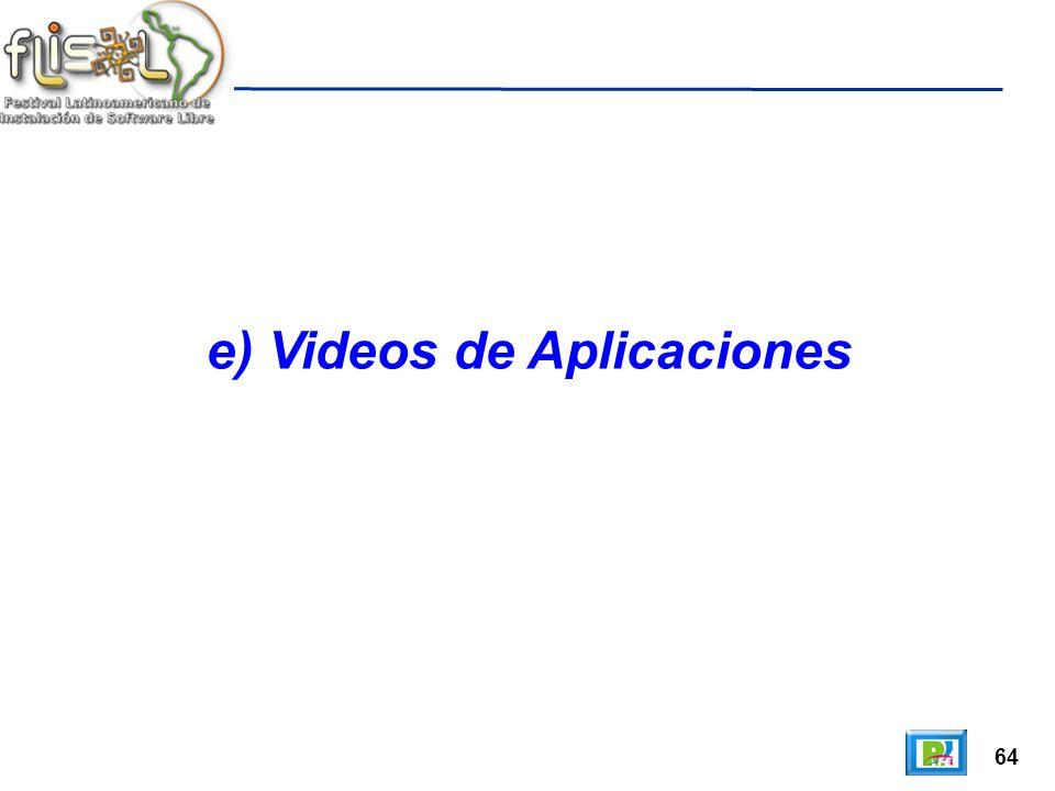 64 e) Videos de Aplicaciones