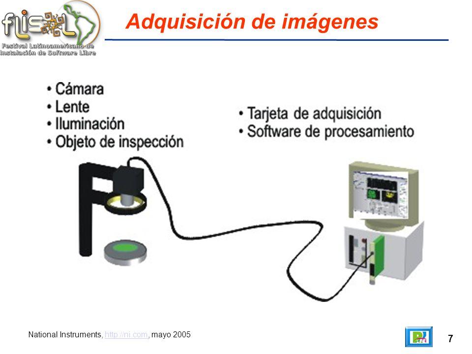 7 Adquisición de imágenes National Instruments, http://ni.com, mayo 2005http://ni.com