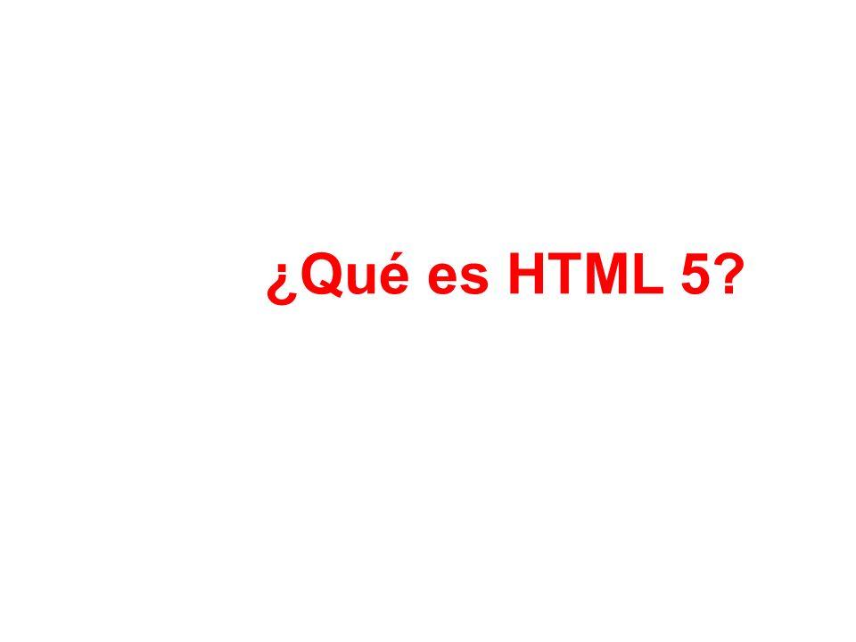 ¿Qué es HTML 5
