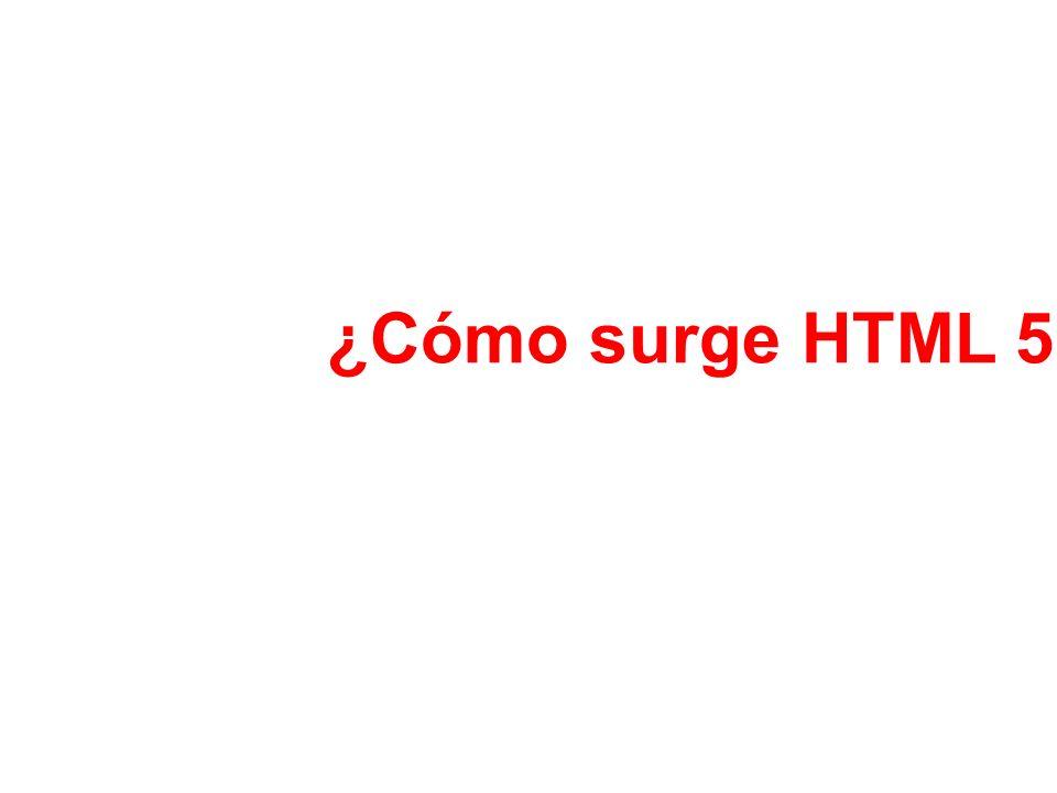 ¿Cómo surge HTML 5