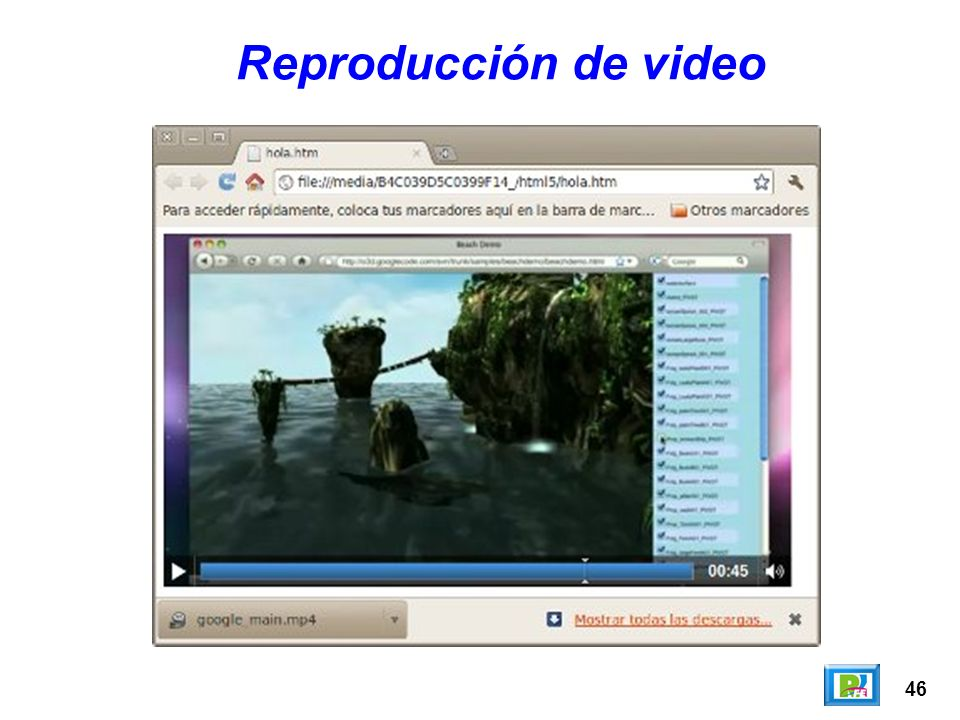 46 Reproducción de video