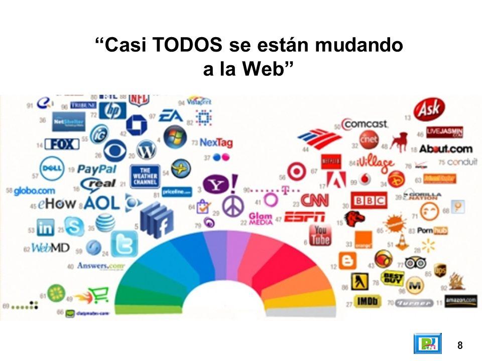 9 Areas que trabajan en la Web