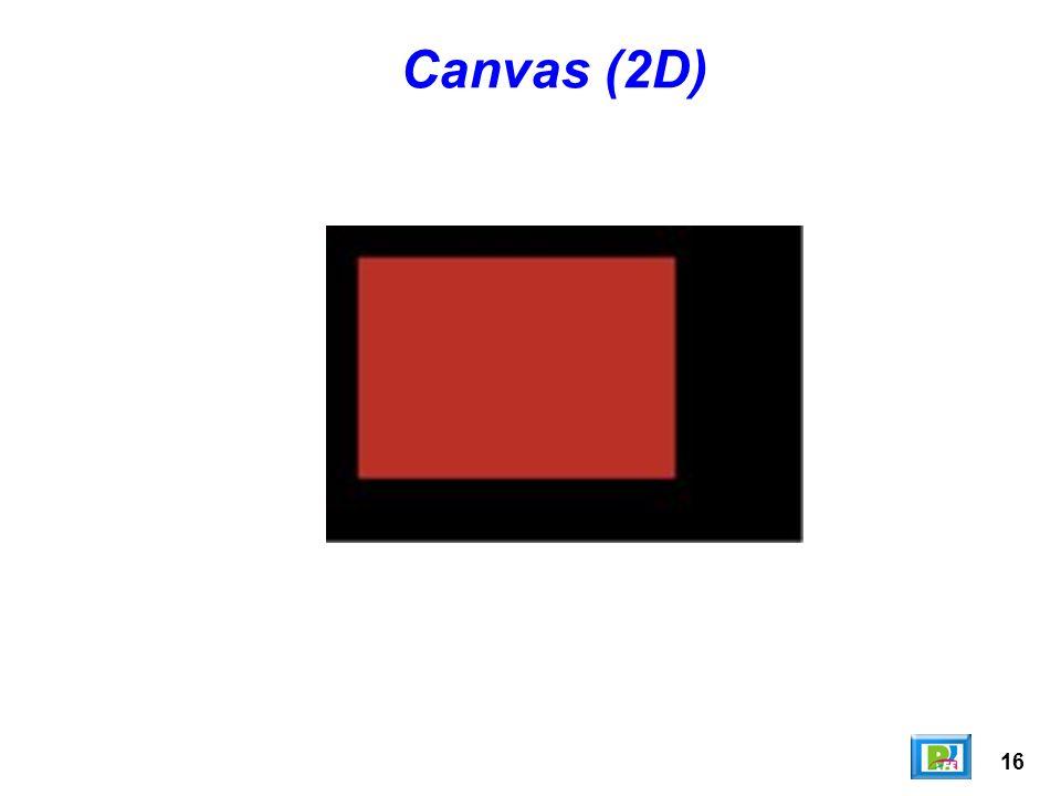 16 Canvas (2D)