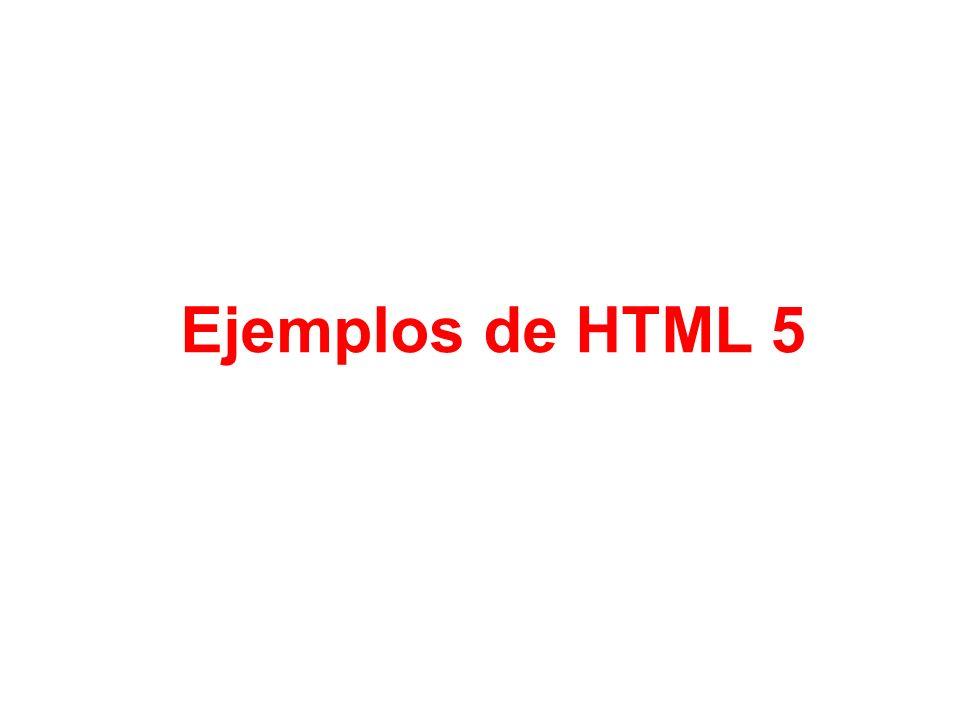Ejemplos de HTML 5