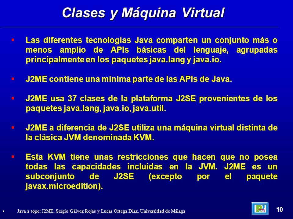 Las diferentes tecnologías Java comparten un conjunto más o menos amplio de APIs básicas del lenguaje, agrupadas principalmente en los paquetes java.l