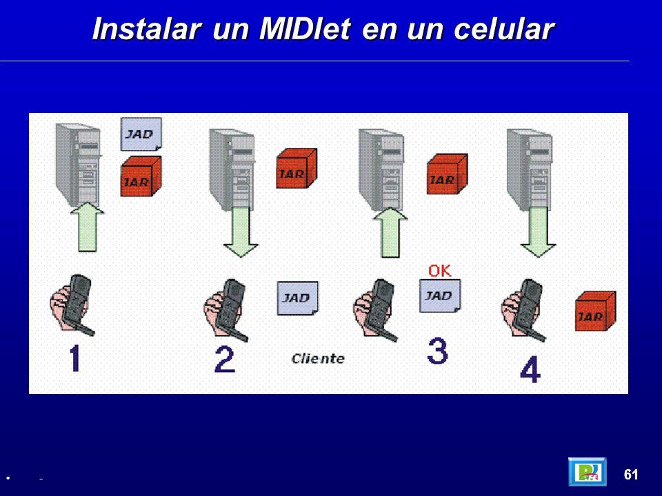Instalar un MIDlet en un celular 61 -