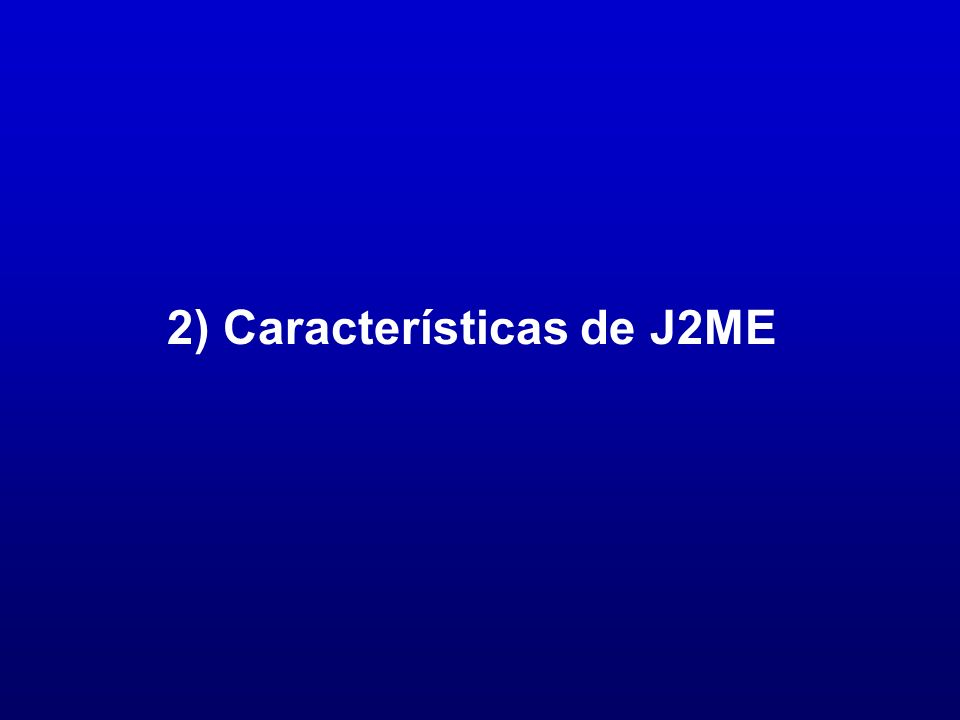 CLDC - Clases Heredadas 78 Java a tope: J2ME, Sergio Gálvez Rojas y Lucas Ortega Díaz, Universidad de Málaga Clases de datos heredadas de J2SE Clases de E/S (Subconjunto de java.io) java.io.ByteArrayInputStream java.io.ByteArrayOutputStream java.io.DataInput java.io.DataOutput java.io.DataInputStream java.io.DataOutputStream java.io.InputStream java.io.InputStreamReader java.io.OutputStream java.io.OutputStreamWriter java.io.PrintStream java.io.Reader java.io.Writer