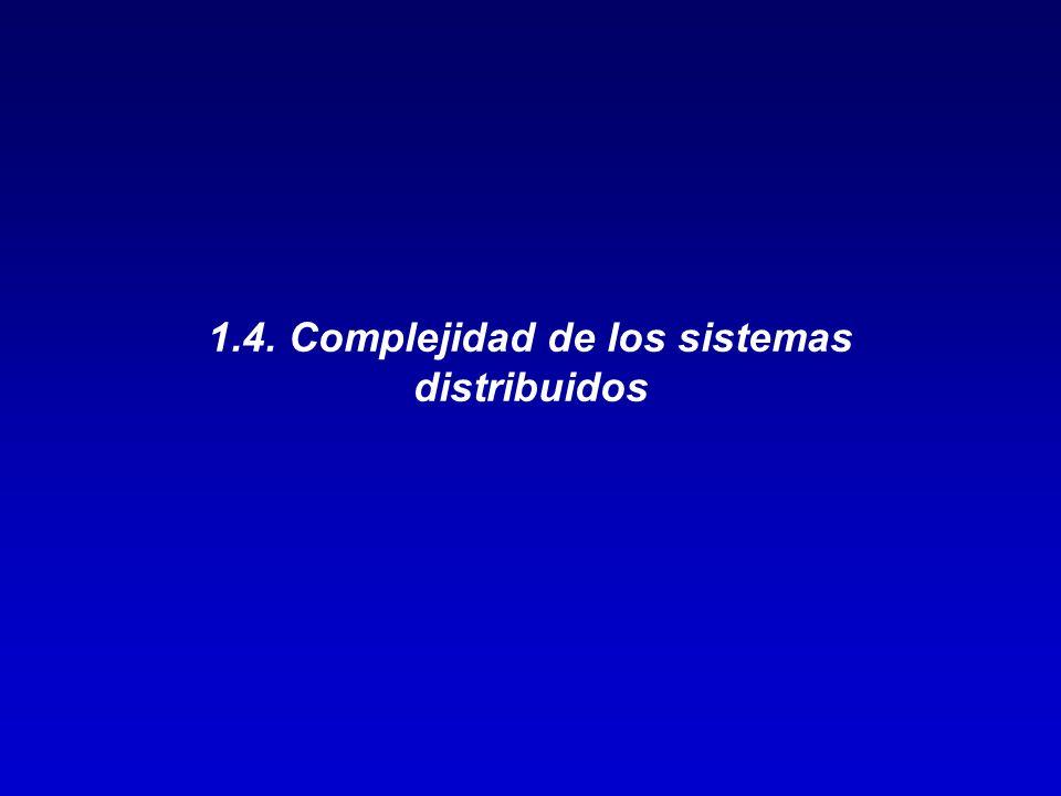 1.4. Complejidad de los sistemas distribuidos