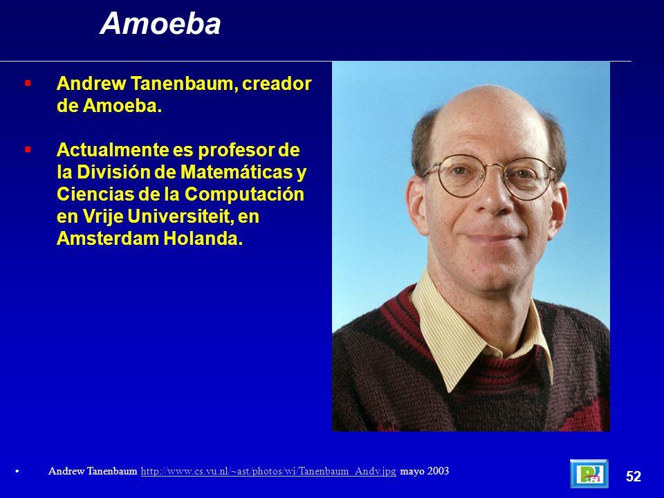 Andrew Tanenbaum, creador de Amoeba. Actualmente es profesor de la División de Matemáticas y Ciencias de la Computación en Vrije Universiteit, en Amst