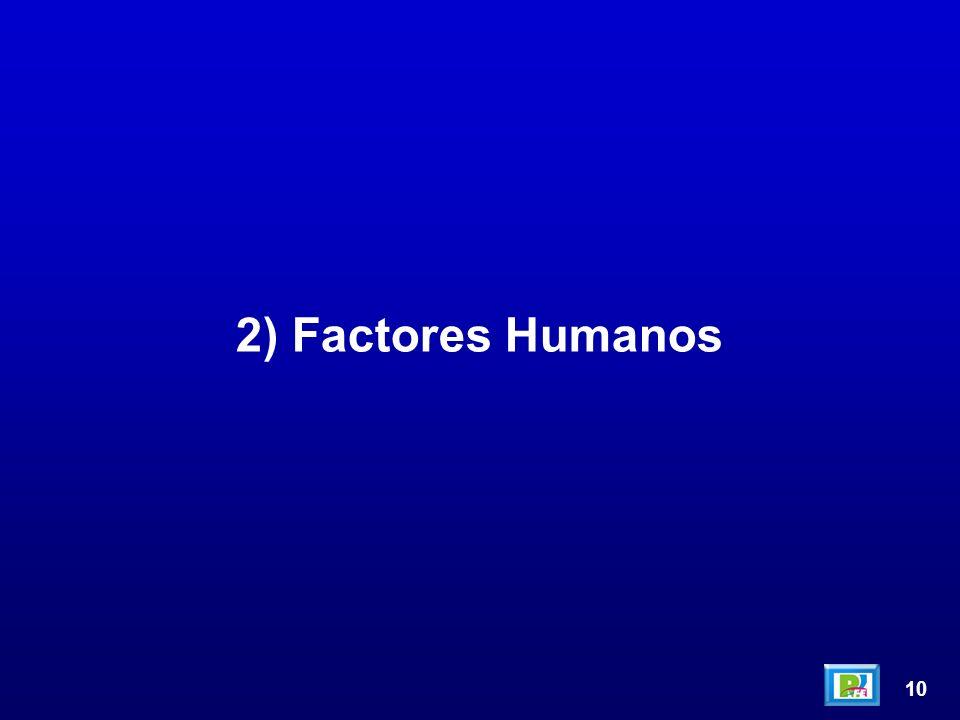 10 2) Factores Humanos