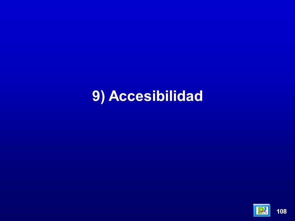 108 9) Accesibilidad