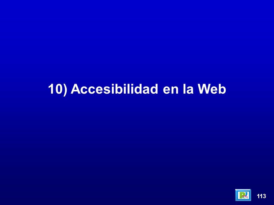 113 10) Accesibilidad en la Web