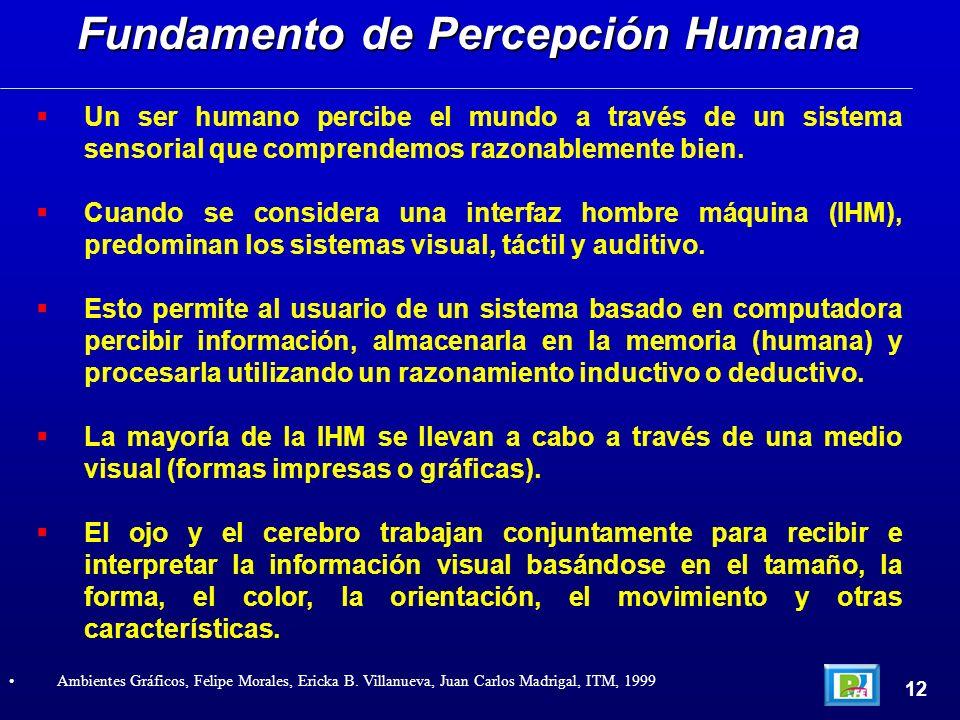 Un ser humano percibe el mundo a través de un sistema sensorial que comprendemos razonablemente bien.
