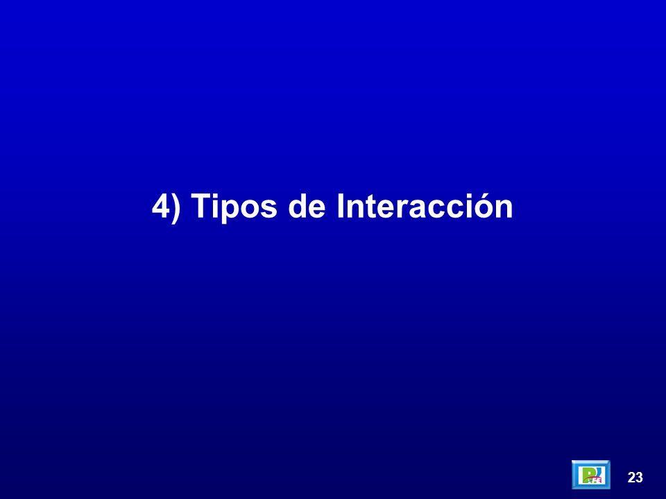 23 4) Tipos de Interacción