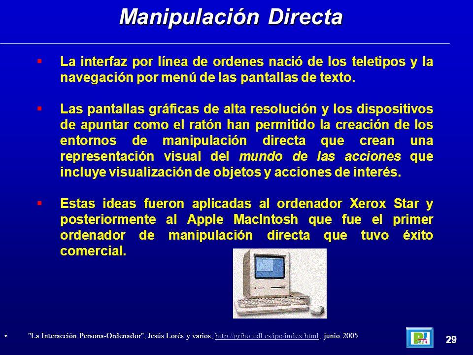 La interfaz por línea de ordenes nació de los teletipos y la navegación por menú de las pantallas de texto. Las pantallas gráficas de alta resolución