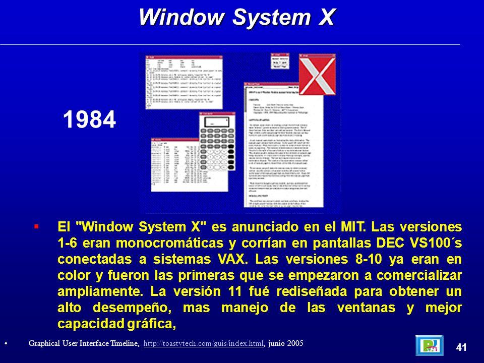 El Window System X es anunciado en el MIT.