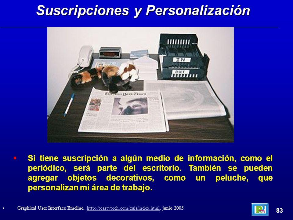 Si tiene suscripción a algún medio de información, como el periódico, será parte del escritorio.
