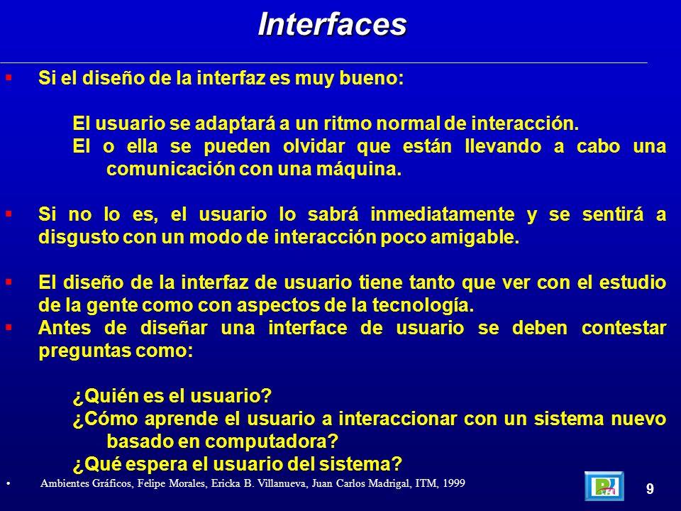 Si el diseño de la interfaz es muy bueno: El usuario se adaptará a un ritmo normal de interacción. El o ella se pueden olvidar que están llevando a ca