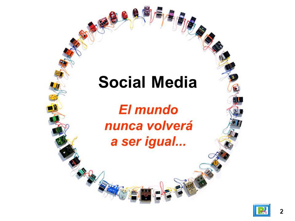 2 El mundo nunca volverá a ser igual... Social Media