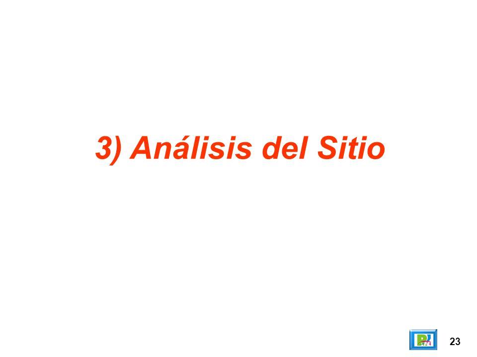 23 3) Análisis del Sitio