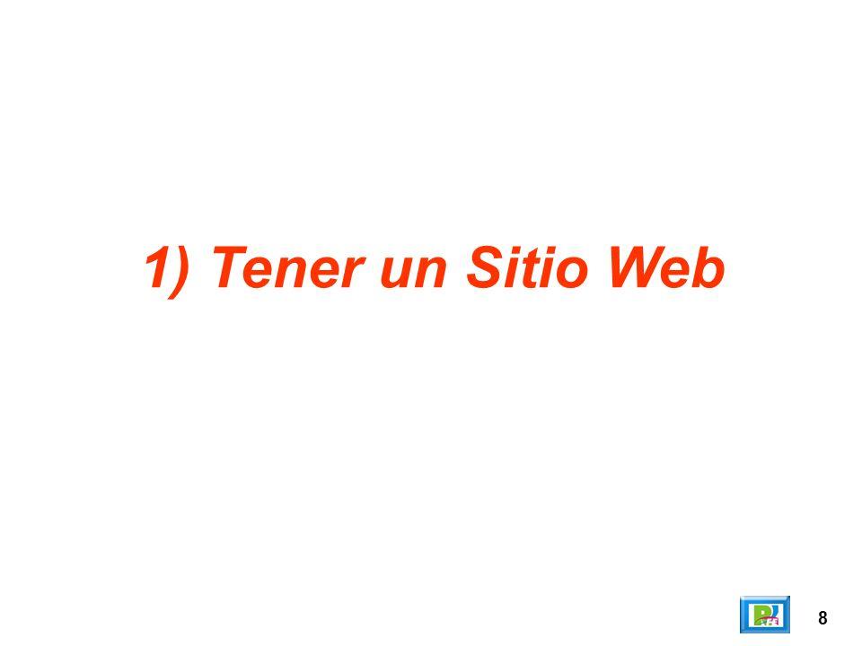 8 1) Tener un Sitio Web