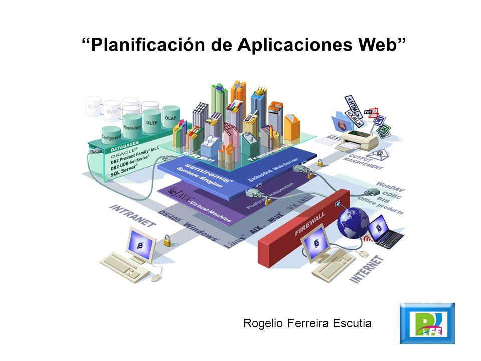Planificación de Aplicaciones Web Rogelio Ferreira Escutia