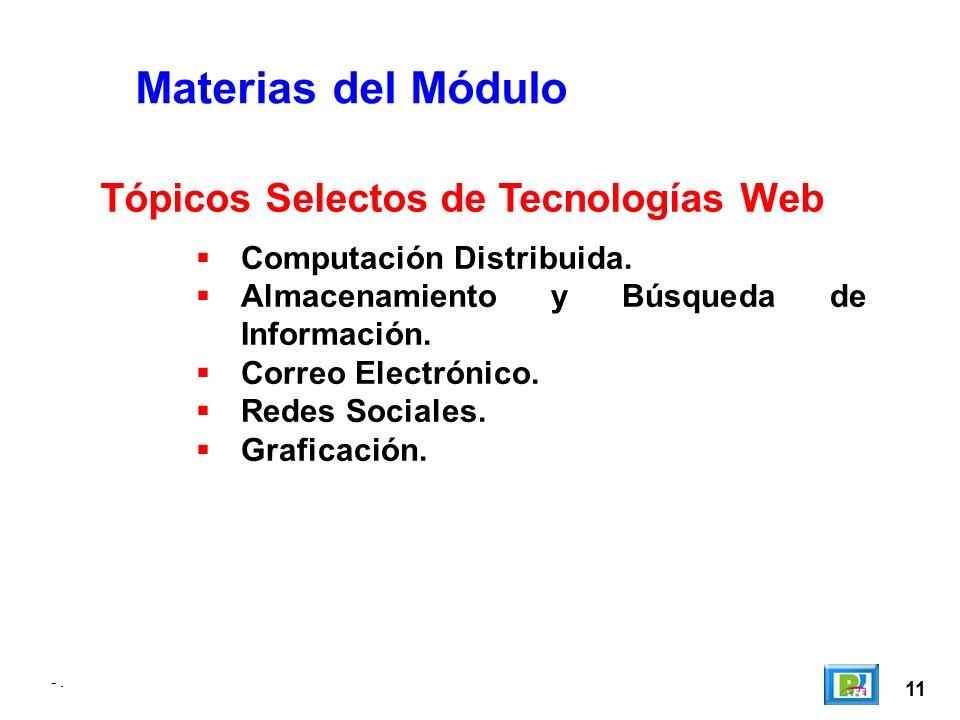-. 11 -. Materias del Módulo Computación Distribuida.