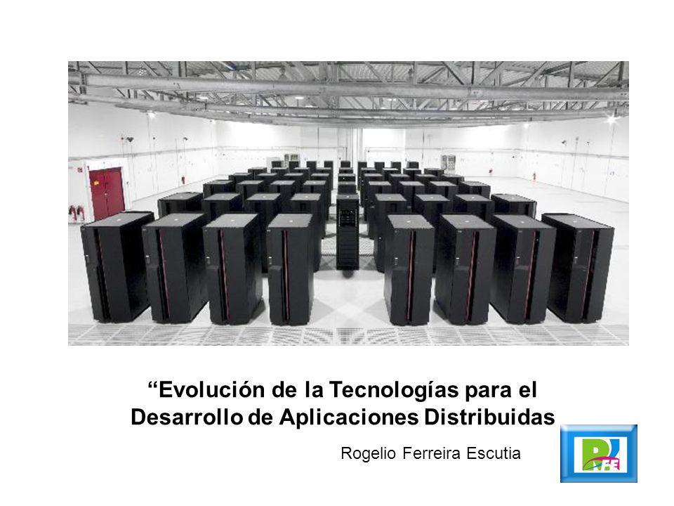 Evolución de la Tecnologías para el Desarrollo de Aplicaciones Distribuidas Rogelio Ferreira Escutia