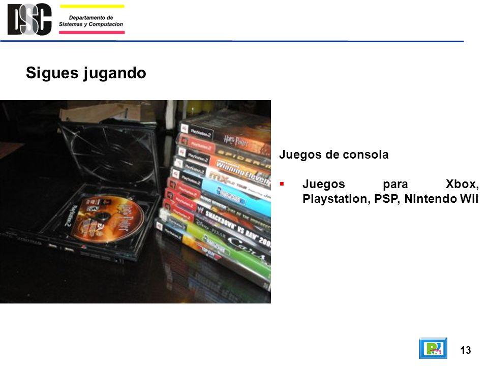 13 Sigues jugando Juegos de consola Juegos para Xbox, Playstation, PSP, Nintendo Wii