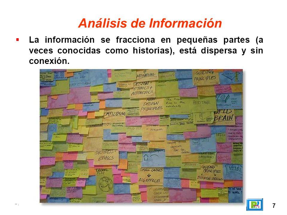 8 Análisis de Información A continuación se ordena y clasifica la información proporcionada por el cliente.