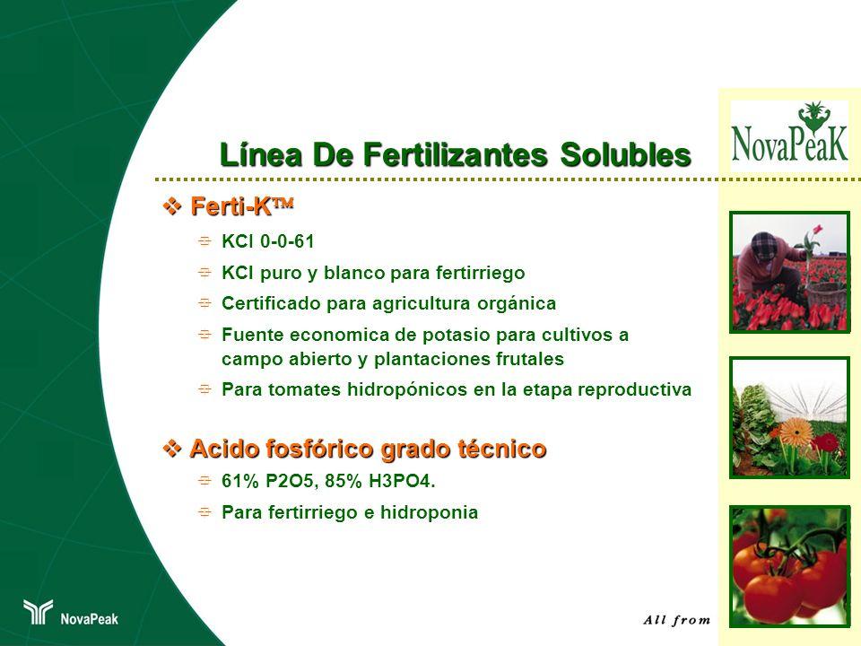 Ferti-K Ferti-K KCI 0-0-61 KCl puro y blanco para fertirriego Certificado para agricultura orgánica Fuente economica de potasio para cultivos a campo