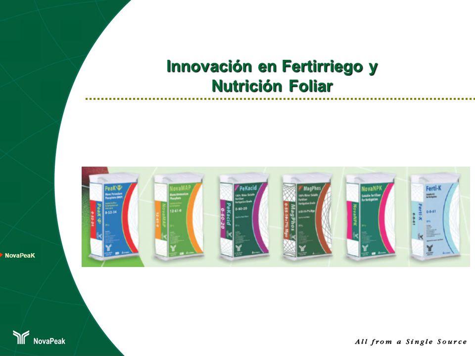 Innovación en Fertirriego y Nutrición Foliar NovaPeaK