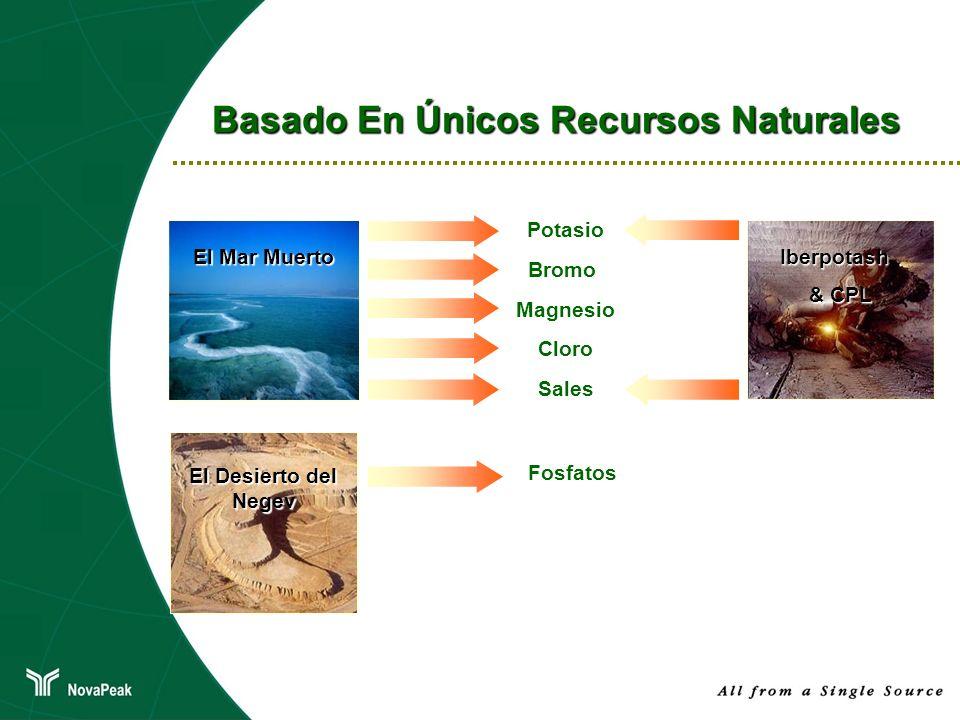 Basado En Únicos Recursos Naturales El Mar Muerto Potasio Bromo Magnesio Cloro Sales Fosfatos El Desierto del Negev Iberpotash & CPL
