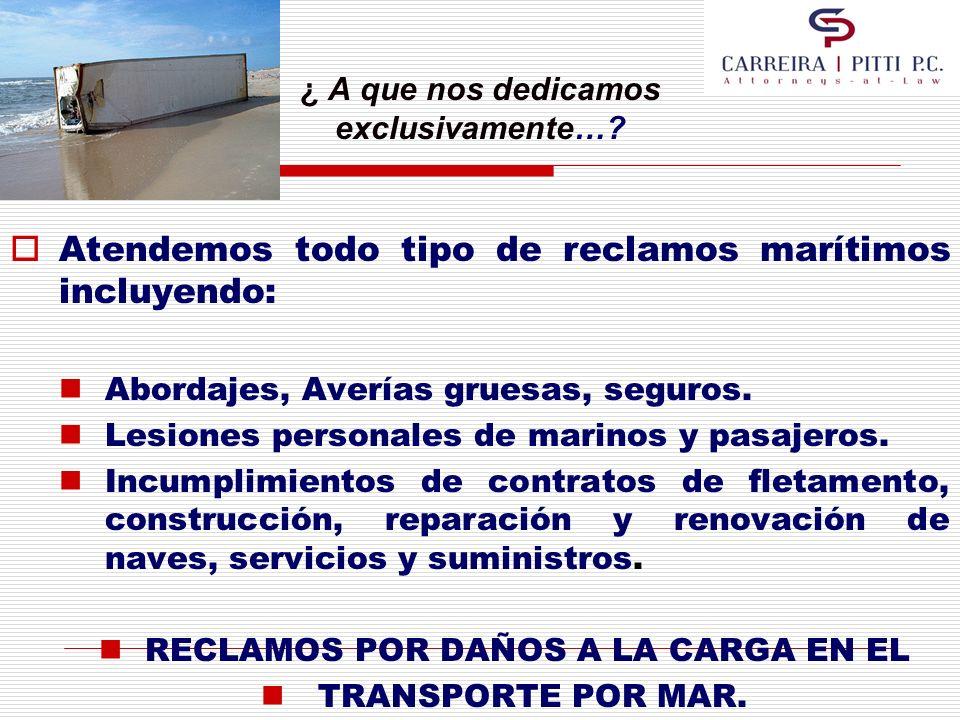 Deberes y Derechos en el Transporte Marítimo.DEFENSAS DE LAS NAVIERAS 3.
