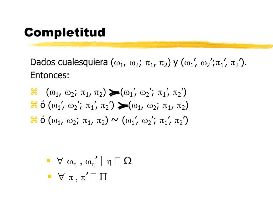 Completitud | Dados cualesquiera ( 1, 2 ; 1, 2 ) y ( 1, 2 ; 1, 2 ). Entonces: z ( 1, 2 ; 1, 2 ) ( 1, 2 ; 1, 2 ) zó ( 1, 2 ; 1, 2 ) ( 1, 2 ; 1, 2 ) zó
