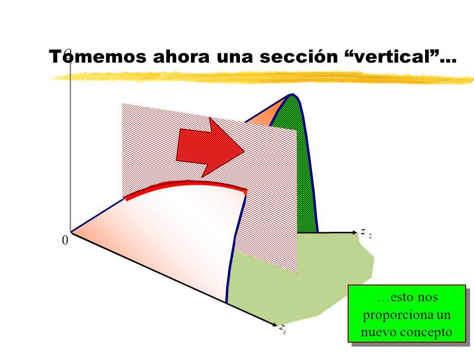 z 2 Q z 1 0 …esto nos proporciona un nuevo concepto Tomemos ahora una sección vertical... l