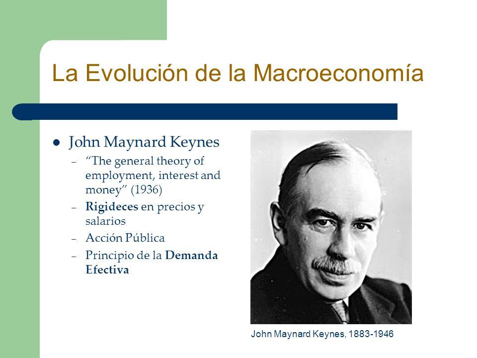 John Maynard Keynes – The general theory of employment, interest and money (1936) – Rigideces en precios y salarios – Acción Pública – Principio de la