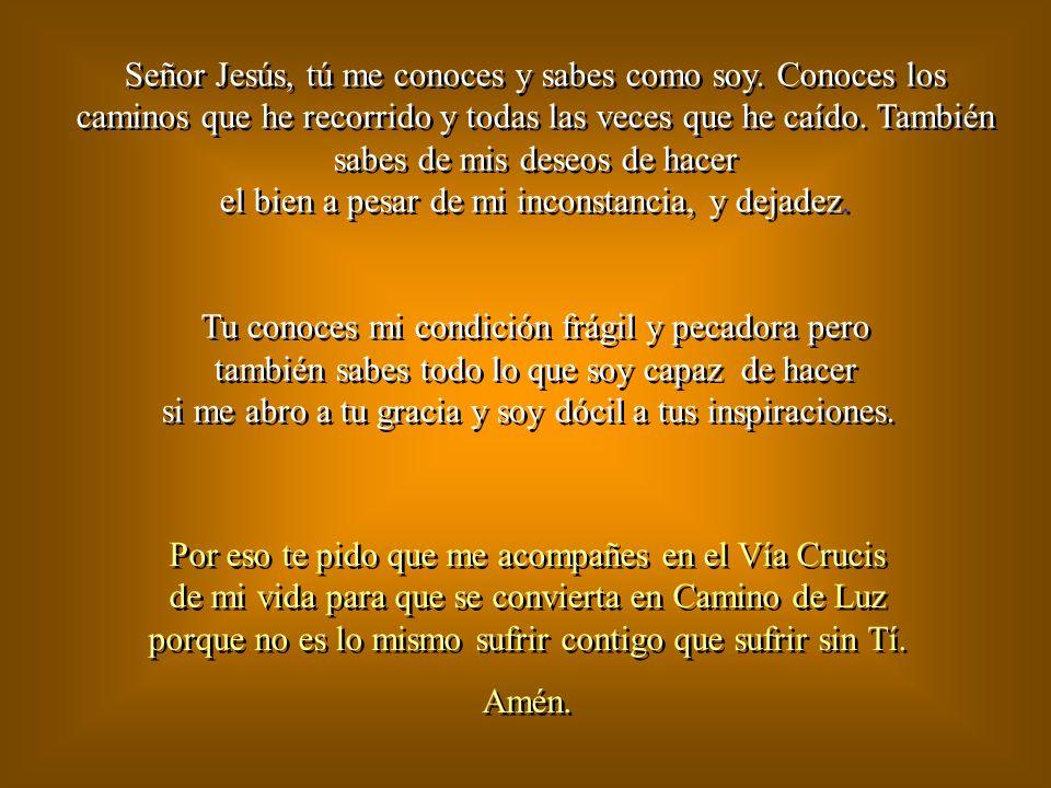XIV Estación Jesús es puesto en el sepulcro Evangelio de Juan 19,38 Señor, pequé, ten piedad y misericordia de mí Padre Nuestro... La última morada qu