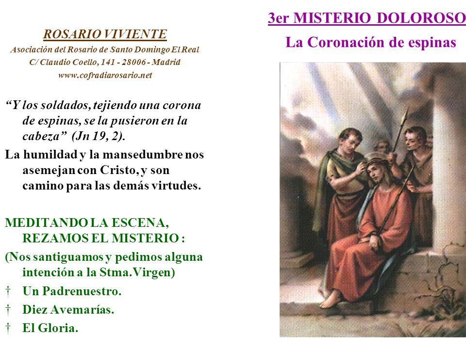 3er MISTERIO DOLOROSO La Coronación de espinas ROSARIO VIVIENTE Asociación del Rosario de Santo Domingo El Real C/ Claudio Coello, 141 - 28006 - Madri