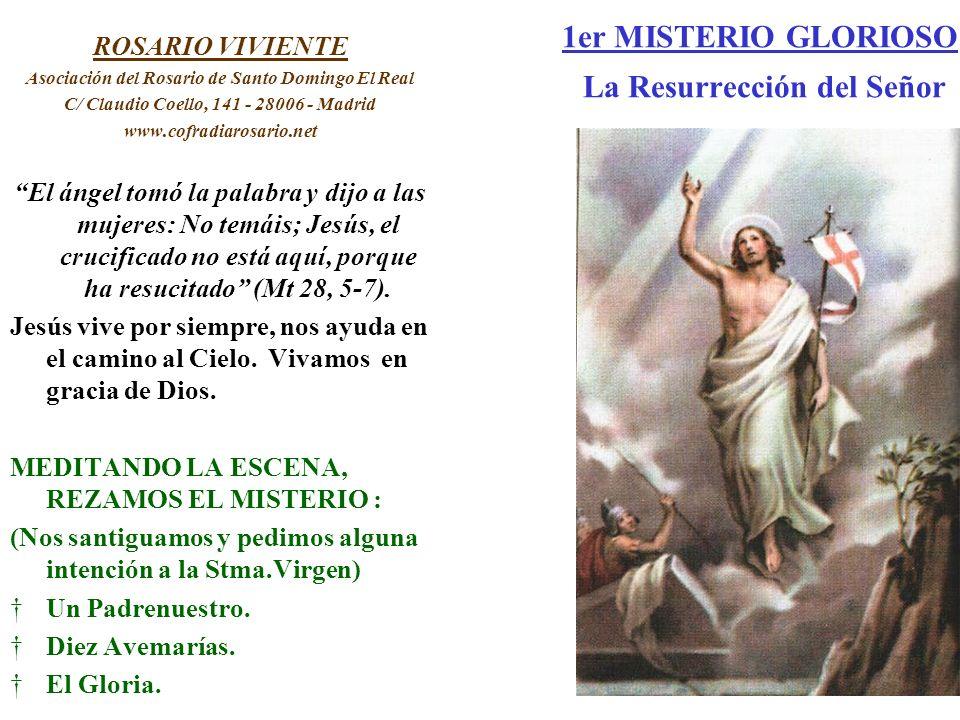 1er MISTERIO GLORIOSO La Resurrección del Señor ROSARIO VIVIENTE Asociación del Rosario de Santo Domingo El Real C/ Claudio Coello, 141 - 28006 - Madr